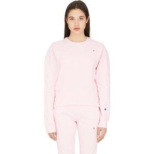 Champion粉色长袖卫衣