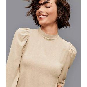 LOFT Outlet5件额外5折泡泡袖上衣