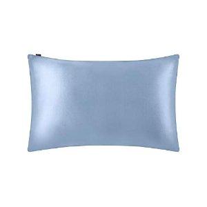 40cm×80cm 蓝色真丝枕套