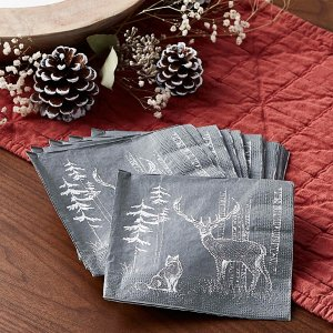 Simons Maison圣诞驯鹿纸巾