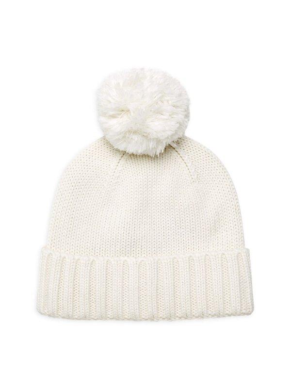 毛球毛线帽