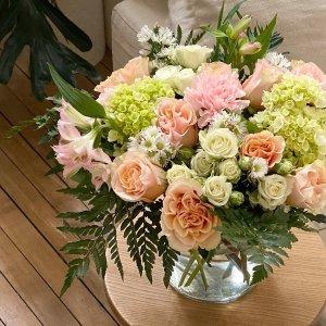 $37收月光白玫瑰+花瓶FTD 7月圣诞年中大促 鲜花、巧克力、马卡龙礼盒热卖