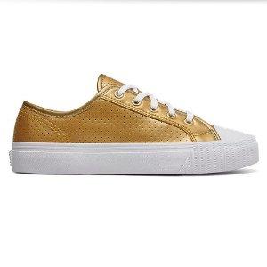 $27(原价$55)+包邮11周年独家:PF Flyers官网 Gold Center Lo运动鞋促销