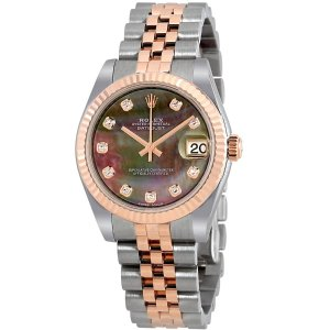 RolexDatejust 31 Black Mother of Pearl Diamond Dial Automatic