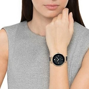 $57.1(原价$101.2.5)Anne Klein 玫瑰金镶钻时尚手镯女表
