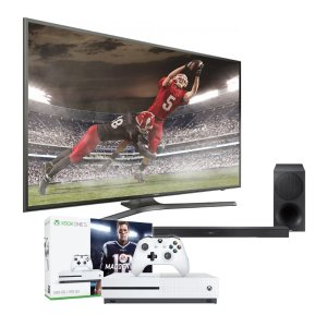 "$1999.93Samsung 75"" 4K 智能电视+ Samsung条形音箱 + Xbox One S"