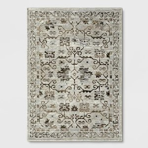 Threshold Neutral Tapestry Woven Area Rug
