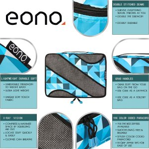 8折 £20收好货Eono 6件装多尺寸旅行收纳包 今日闪促 存量不多