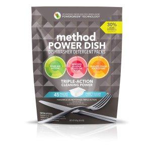 $6.04 (原价$12.99) 包邮Method 天然配方洗碗机专用洗碗球 45颗