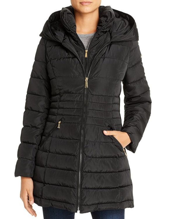 Zip-Front Puffer 外套