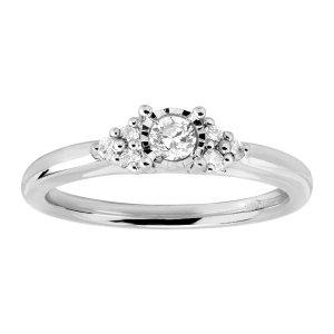 1/4 ct Diamond Engagement Ring in 10K White Gold | 1/4 ct Diamond Engagement Ring | Jewelry.com