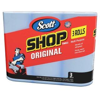 神奇纸巾 仅需$5.48(原价$16.39)Scott 75143 蓝色五金工作用卷纸3卷