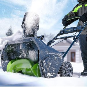 $263.5Greenworks PRO 20-Inch 80V Cordless Snow Thrower, 2.0 AH Battery Included 2600402 @ Amazon