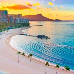 $187夏威夷威基基海滩希尔顿度假酒店 会员专享早鸟价