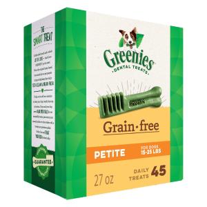 $28.49(原价$42.99)Greenies 汪星人洁牙棒零食 Petite 27oz装 无谷配方