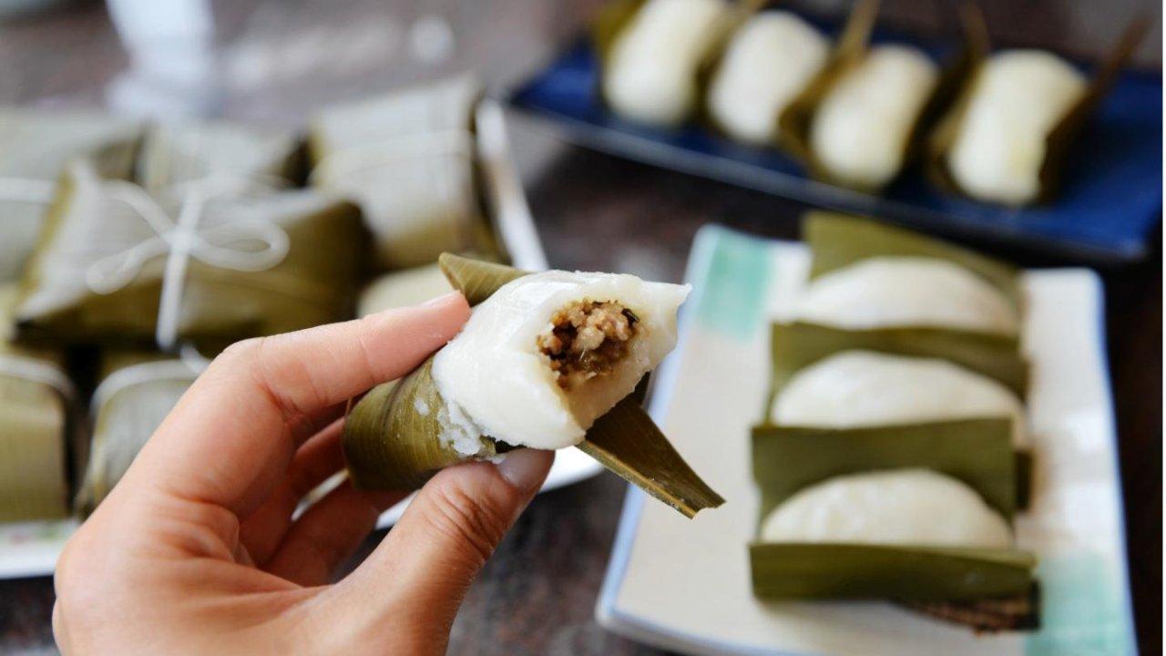 咬上一口,飙香飙鲜飙油的叶儿粑,称霸四川的传统名小吃