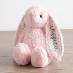 My 1st YearsPersonalized Pink Bunny Stuffed Animal