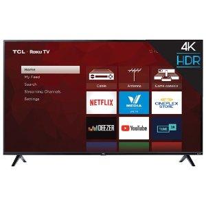 $599.99(原价$649.99)黑五价:TCL 65'' 4K Roku 智能电视