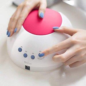 SUNUV SUN2C 48W LED UV nail Lamp with 4 Timer Setting,Senor For Gel Nails and Toe Nail Curing