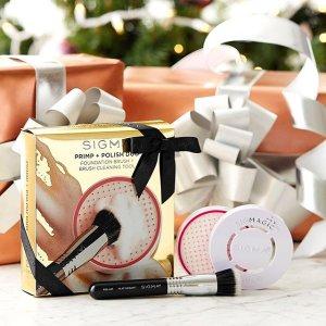 低至8折+满额送18件大礼包最后一天:Sigma Beauty 美妆工具特卖 收晾刷架、洗刷垫