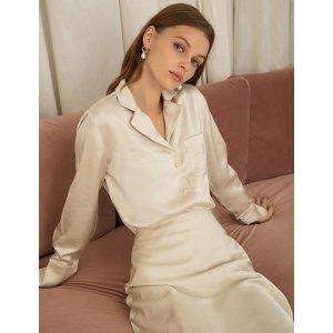 Pixie Market丝质衬衫