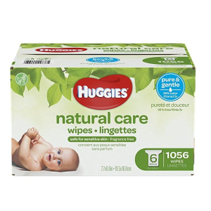 $18.97(原价$24.98)Huggies Natural Care 温和配方婴儿湿巾 1056片