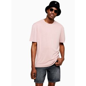 Topman嫩粉色T恤