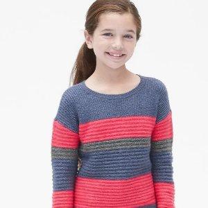 低至5折+额外8折Gap官网 儿童服装特卖,包臀衫$3.98,长袖T恤$6.38,卫衣$7.99起