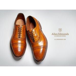 减价高达$150!男人衣橱必备品牌!Allen Edmonds 男士商务休闲皮鞋