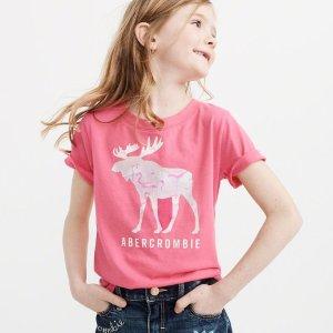 收封面款阳光下变色的Logo T恤限今天:abercrombie kids 精选男女童服饰$6起热卖