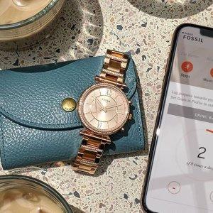 3折起+满减 $70收钢带腕表Fossil 时装腕表 $79收皮带腕表 多色可选 $130收运动皮带腕表