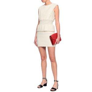MajeRosay cotton boucle-tweed peplum mini dress