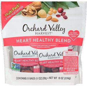 $5Orchard Valley Harvest Heart Healthy Blend Multi Pack, Non-GMO Project Verified, No Artificial Ingredients, 8 ounces