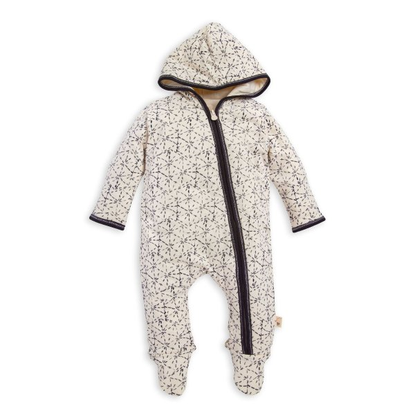 有机棉婴童连帽连体衣