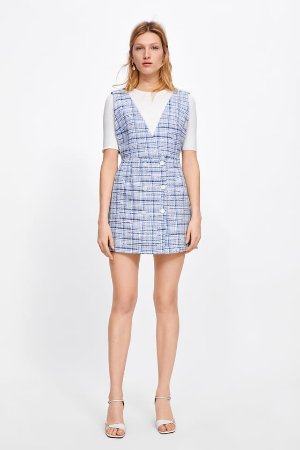 PLAID PINAFORE DRESS - View all-DRESSES-WOMAN-SALE | ZARA United States