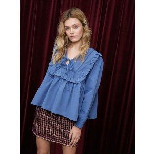 蓝色娃娃衬衫