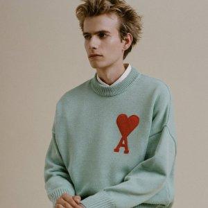 T恤$105+免邮 上衣$145起上新:Ami Paris SS21热卖,收奶茶色、香芋紫、薄荷绿新色卫衣