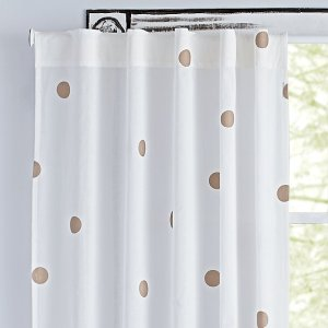 "Bronze Polka Dot 84"" Curtain + Reviews 