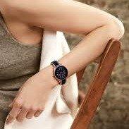 折后仅¥165史低价:Anne Klein 女士黑金配色陶瓷手表