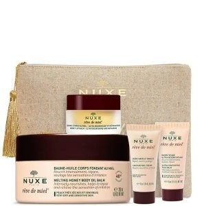 Nuxe干皮必备,含身体乳正装200ml蜂蜜护肤套装