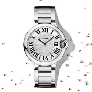 EXTRA $50 OFF Cartier Ballon Bleu Silver Dial Ladies Watch W69010Z4