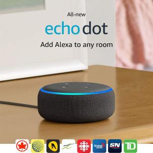 $34.99(原价$69.99)Echo Dot 三代语音助手特价促销