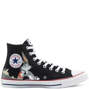 Converse黑色高帮兔八哥帆布鞋