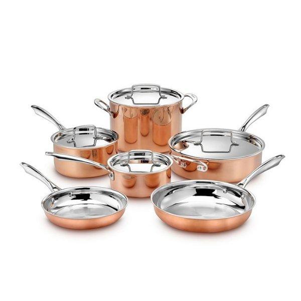 Copper Tri Ply 锅具10件套