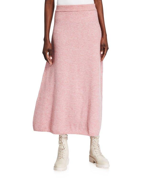 长款针织裙