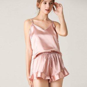 5色选 $18.99DICUIRD 缎面吊带睡衣套装 精致少女必备