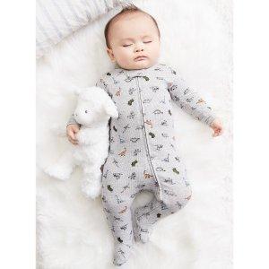 Carter's婴儿恐龙包脚连体衣