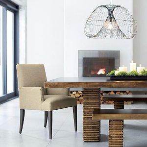 8.5折Crate & Barrel餐厅家具促销 最火美式现代风格家居