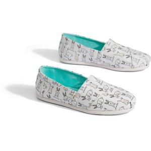 Toms小白兔帆布鞋