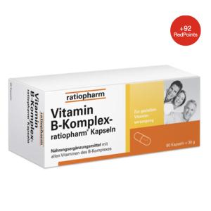 60粒折后€10.68ratiopharm 维生素B群胶囊 维持消化系统健康 改善皮肤炎症